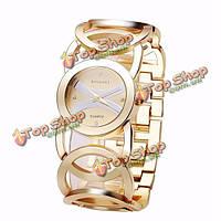 Baosaili моды роскошь кристалл золотой цвет одежды наручные часы для женщин дамы кварцевых часов