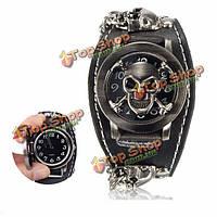 Часы мужские наручные кварцевые дизайн панк-готический череп