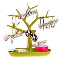 Ветка дерева формы серьги кольца ожерелья стойки дисплея ювелирных изделий держателя