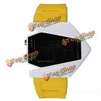 Мода спорт LED самолет цифровые резиновые мужчины женщины наручные часы
