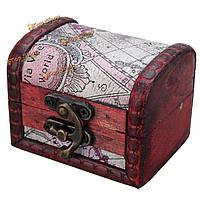 Ретро старинные карты стиль деревянные украшения организатор ящик для хранения кейс