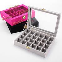 Бархат стекло картонный кольца серьги кулон ювелирные изделия собирают коробки витрины