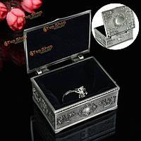 Ожерелье год сбора винограда браслет держатель для хранения коробка олова ювелирного дела