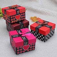 Ленты Bowknot сердца браслет ювелирные наручные часы подарочной коробке