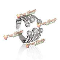 Многослойная горный хрусталь сплава раскрытия кольца для женщин