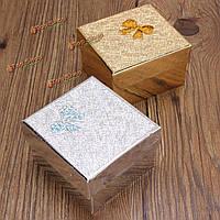 Bowknot браслет квадратный ювелирные наручные часы картонная коробка упаковки