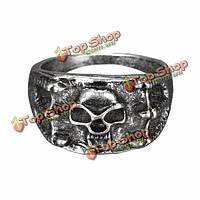 Ретро-панк Серебряный бронзовые черепа коготь палец кольцо для женщин