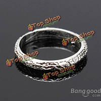 Серебряный тон матовый матовый сплав палец кольцо ювелирных изделий женщин