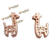 Kuniu мило выдалбливают жираф формы стержня уха серьги женщины ювелирные изделия