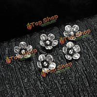 S925 5шт Sterling серебро цветок бисер DIY ювелирных фитинги аксессуары
