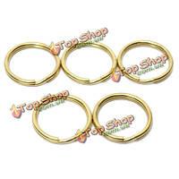 5шт круглые медные плоские кольца брелок ключевые держатель брелок аксессуары