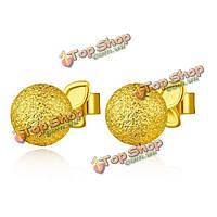 14k позолоченный шар шаровидные серьги женщин ювелирные изделия