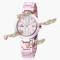 Eyki унисекс emos8565l женщин из нержавеющей стали керамические кварцевые часы