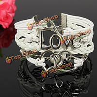 Многослойные белые крылья любви 8 сердце жемчужный браслет
