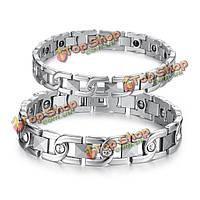 X-образная форма сталь титан кристаллы энергии магнитного камня пару браслет