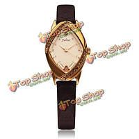 Юлий ja-660 мода кристалл ромб кожи женщин кварцевые часы