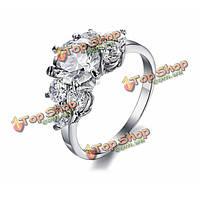 Из нержавеющей стали с бриллиантами кубического циркония кристалл кольца для женщин