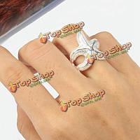 Серебряные морские звезды сплава палец кольцо для женщин