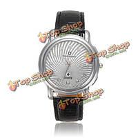 Женщины стильный кристалл искусственного кожаный ремешок кварцевые наручные часы