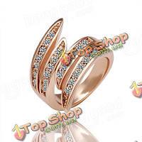 Бренд женщины Ясс розовое кольцо золота кристаллические ювелирные изделия одежды аксессуары подарок