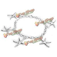 925 серебро шарм звезды звено цепи браслет ювелирные изделия женщин