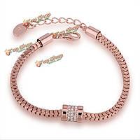Ясско простой розового золота декор кристалл циркона браслет ювелирных изделий