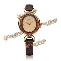 Юлий ja-653 Винтаж кристалл rhinestone кожа женщины часы