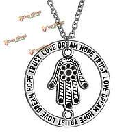 Дерево завод животное письмо звезда круглое серебряное ожерелье шарма цепи