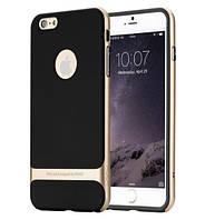 "TPU+PC чехол Rock Royce Series для Apple iPhone 7 / 8 (4.7"") Черный / Champagne gold"