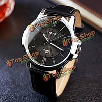Yazole 332 мода простой стиль бизнеса мужские наручные часы кожа кварцевые часы