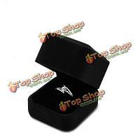 Черный бархатный футляр чехол дисплея ювелирных изделий кольца серьги кулон ожерелье