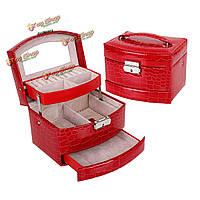 Большой крокодил кожаный браслет кольца серьги коробка ювелирных изделий сумка