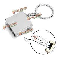 30-дюймов металлические полезная измерительная лента брелка инструменты масштабирования подарок кольцо для ключей