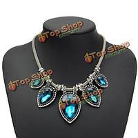 Очарование водослива слеза кристалл нагрудник заявление ожерелье для женщин