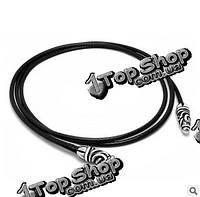 Титана кожаные мужские аксессуары боло Bow Tie ожерелье многослойная цепь браслета