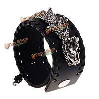 Дракон тканые кожаный браслет панк регулируемые мужчины ювелирные аксессуары одежды