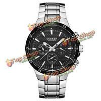 Curren 8063 бизнес мужчин стиль кварцевые часы спорта на открытом воздухе сплава группы наручные часы