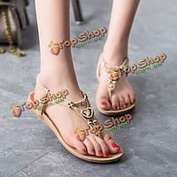 Женские летние шикарные пляжные сандалии с ремешками Чехи сандалии плоские шлепки