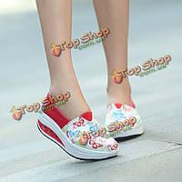Женщины летом случайные рокер подошва ботинок спорта на открытом воздухе плоские дышащей спортивной обуви