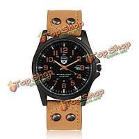 Спортивные кварцевые военные часы аналога полосы мужчин sk из искусственной кожи