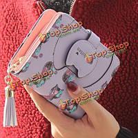 Женщины кошки кисточкой короткие бумажник девушки конфеты цвет молния кошелек карты сумки держатель для монет