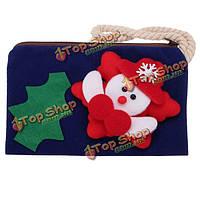 Женщины рождественские мини кошелек девушки снеговика бумажник детей подарок молния монета мешки телефона, мешки