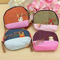 Женщины животного монета маленькая сумка кошелек наличными карта ключ бумажника держатель мешка