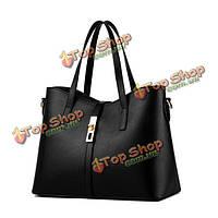 Женщины конфеты цвет простой кожаные сумки элегантные сумки плеча Crossbody сумки