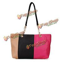 Вязаная мода цвет блока женщин сумка лоскутная сумка сумка