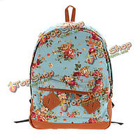 Пастырский стиль цветок холст мешки школы студенты bookbags рюкзак