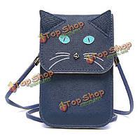Женщины мультфильм кошка сумки девушки милые мыши мини-мешки плеча лисицы Crossbody сумки телефон сумки