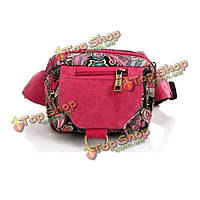 Цветочный узор холст талии сумки этнические сумки грудь винтажные сумки плеча Crossbody сумки