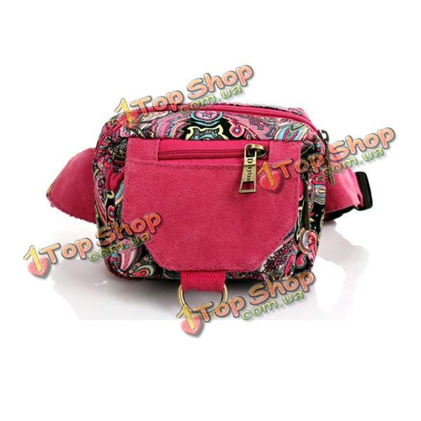 60db90ed1dee Цветочный узор холст талии сумки этнические сумки грудь винтажные сумки  плеча Crossbody сумки - ➊TopShop ➠