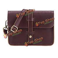 Женщины пряжка винтажная кожаная сумка плеча сумка